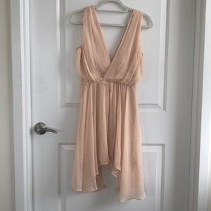 Keepsake Peachy Pink Cocktail Dress